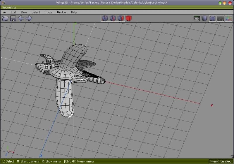 Ligian Figher Wings3D Model