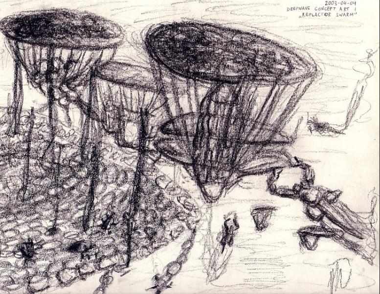 Sketch of a Replicator Hive