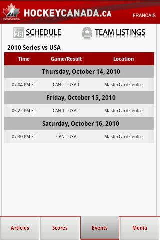 Events - Schedule