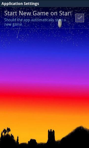 Settings Screen - Version 0.1.99